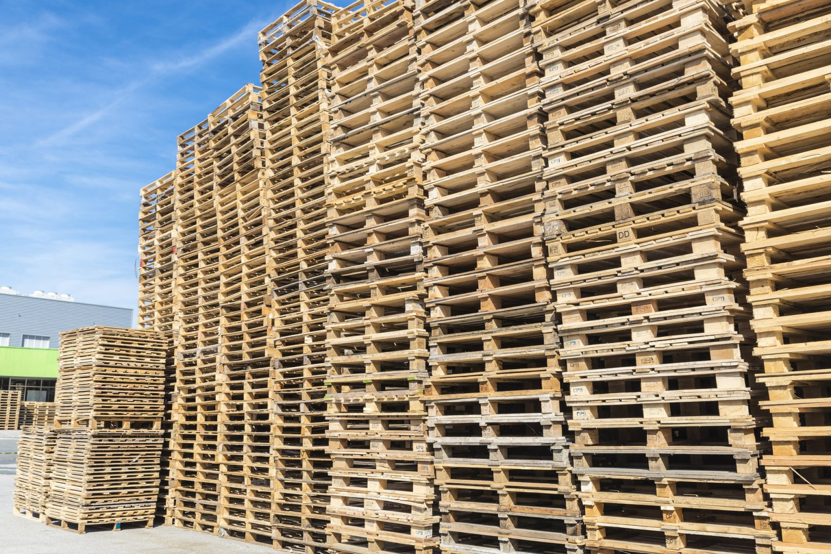 Heap of wooden Pallets